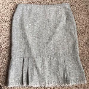 [WHBM] Ruffled Hem Tweed Skirt
